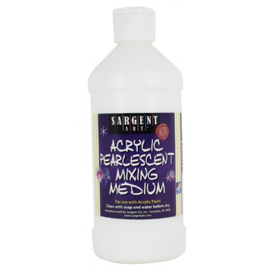 ACRYLIC MIXING MEDIUM PEARLESCENT SARGENT ART16 OZ