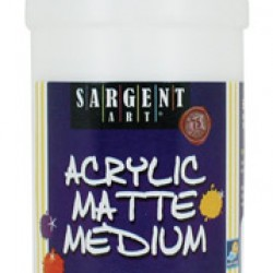 ACRYLIC MATTE MEDIUM SARGENT ART 16 OZ