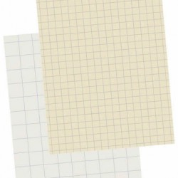 """DRAWING PAPER CROSS RULING 1 """" WHITE 9""""X 12"""""""