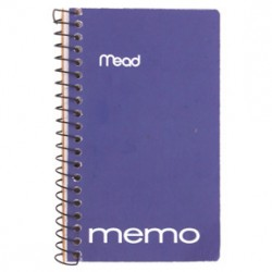 "MEMO BOOK WIRE BOUND 5"" X 3""  SIDE SPIRAL 60CT MEAD"