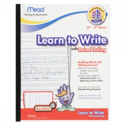 HANDWRITING TABLET MEAD LEARN TO WRITE W RAISED RULING 40CT