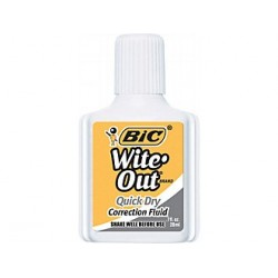 CORRECTION FLUID BIC WITE-OUT W FOAM APPLICATOR .7oz (single