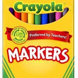MARKERS CRAYOLA CLASSIC  FINE  10 CT