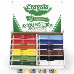PENCIL COLORING CRAYOLA CLASSPACK 240ct  W/12 SHARPENERS