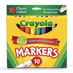 MARKERS CRAYOLA CLASSIC BROAD 10ct