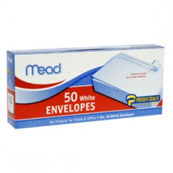 "ENVELOPES MEAD PRESS N' SEAL  10""  50 ct."