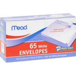 "ENVELOPES MEAD PRESS N' SEAL   6""  65 ct."