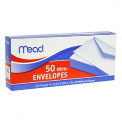 "ENVELOPES MEAD BOXED    10""  50ct"