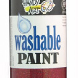 PAINT WASHABLE HANDY ART GLITTER 16 OZ RED
