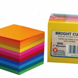"BRIGHT CUBE PAD 3"" SQUARE ASSORTED COLORS"