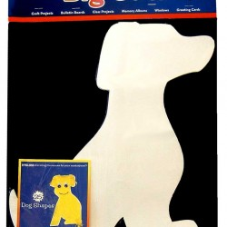"""BIG CUTS DOG 16"""" 60# WHITE SULPHITE DRAWING 25 COUNT"""