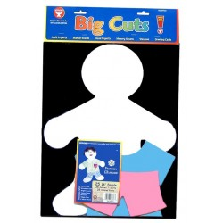 """BIG CUTS 16"""" BIG KID WHITE WITH COLORED CLOTHES 75 pcs."""