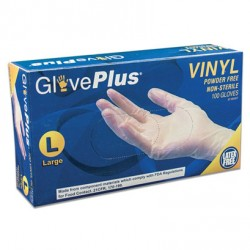 GLOVEPLUS INDUSTRIAL VINYL  4 MIL 100 CT LARGE