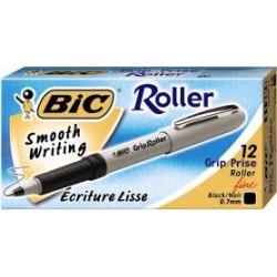 PEN BIC GRIP ROLLER FINE BLACK