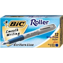 PEN BIC GRIP ROLLER FINE BLUE
