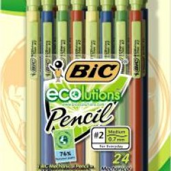 PENCIL MECHANICAL BIC  ECOLUTIONS .7mm 24 ct.