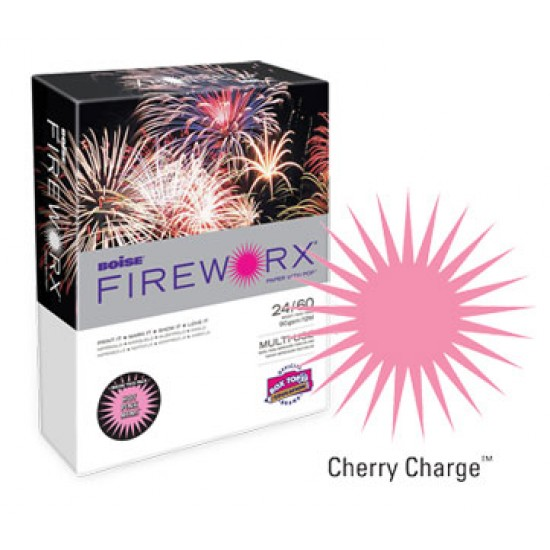 COPY PAPER COLOR FIREWORX 8.5 X 11 20# CHERRY CHARGE