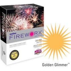 COPY PAPER COLOR FIREWORX 8.5 X 11 20# GOLDEN GLIMMER