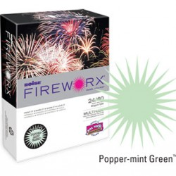 COPY PAPER COLOR FIREWORX 8.5 X 11 20# POPPER-MINT GREEN