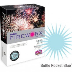 COPY PAPER COLOR FIREWORX 8.5 X 11 20# BOTTLE ROCKET BLUE