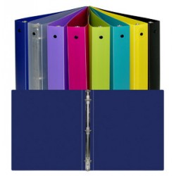 "BINDER POLY 1"" ROUND RING ECONOMY BRIGHT COLORS"