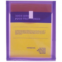 ENVELOPES POLY VELCRO Top Open  LETTER SIZE ASSORTED COLORS  b.o.p.