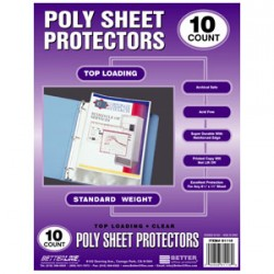 SHEET PROTECTOR TOP LOAD STD WT BETTER OFFICE  10 ct