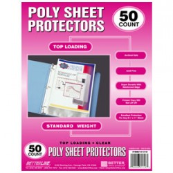 SHEET PROTECTORS TOP LOAD STANDARD WEIGHT BETTER OFFICE PRODUCTS  50 ct