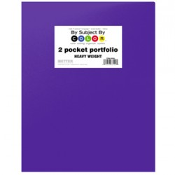PORTFOLIO POLY 2 POCKET .35 mm HEAVY WEIGHT  PURPLE