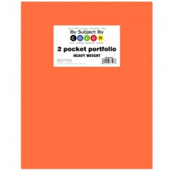 PORTFOLIO POLY 2 POCKET .35 mm HEAVY WEIGHT  ORANGE