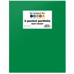 PORTFOLIO POLY 2 POCKET .35 mm HEAVY WEIGHT  GREEN
