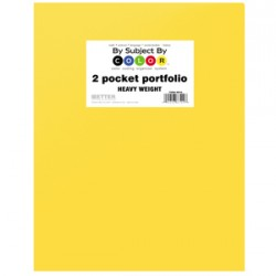 PORTFOLIO POLY 2 POCKET .35 mm HEAVY WEIGHT  YELLOW