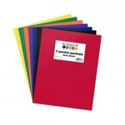 PORTFOLIOS POLY 2 POCKET .35 mm HEAVY WEIGHT  ASSORTED COLORS
