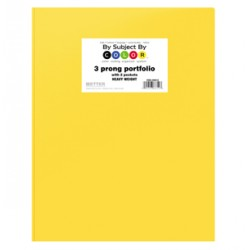 PORTFOLIOS POLY 2 POCKET & PRONGS .35 mm HEAVY WEIGHT YELLOW