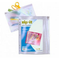 PENCIL POUCH PLASTIC ALL CLEAR 10.5 X 8 BETTER OFFICE