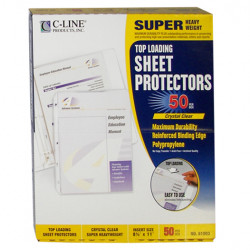 SHEET PROTECTOR TOP LOADING SUPER HEAVY DUTY C-LINE  50 CT