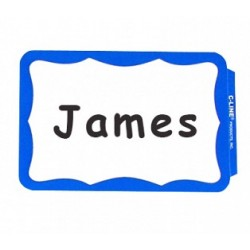 NAME BADGES  SELF STICK  C-LINE  BORDER  100 ct.   BLUE