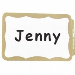 NAME BADGES  SELF STICK  C-LINE  BORDER  100 ct.   GOLD