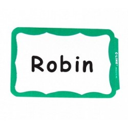 NAME BADGES  SELF STICK  C-LINE  BORDER  100 ct.   GREEN