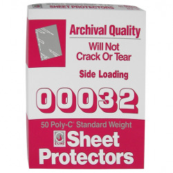 SHEET PROTECTOR TRADITIONAL CLEAR 11 X 8 1/2  C-LINE 50 CT.