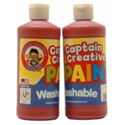 PAINT WASHABLE CAPTAIN CREATIVE 16 oz RED