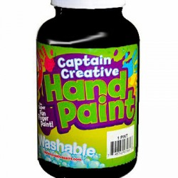 PAINT CAPTAIN CREATIVE WASHABLE HAND PAINT 16 oz Black