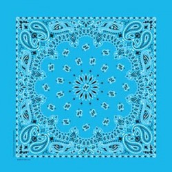 BANDANNAS PAISLEY   LIGHT BLUE