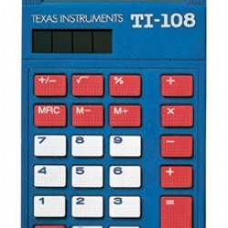 CALCULATOR TI 108 SOLAR POWERED BASIC 4 FUNCTION