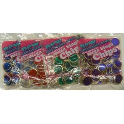 COUNTING / BINGO CHIPS MAGNET READY WIRE RIM 100 ct  BLUE