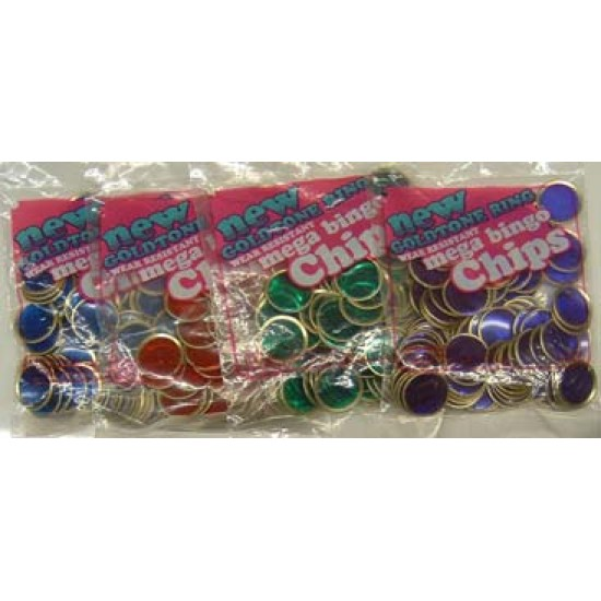 COUNTING / BINGO CHIPS MAGNET READY WIRE RIM 100 ct  RED