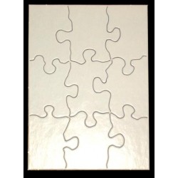 "COMPOZ-A-PUZZLE SMALL  4"" X 5 1/2""    WHITE             9 pc"