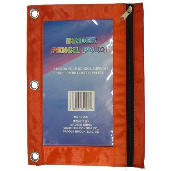 PENCIL POUCH CANVASS W/ VIEW WINDOW STUDENT TOOLS