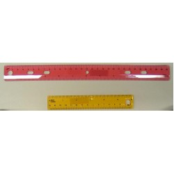 "RULER PLASTIC 12"" W/STANDARD & METRIC TINT COLORS CUE CRAFT"