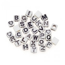 BEAD LETTER O 6mm. 30pcs.